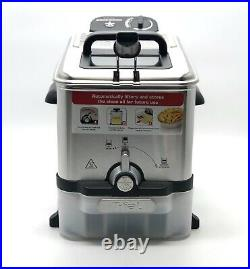 T-FAL EZ-Clean Deep Fryer 2.6-Pound Basket Oil Filtration System Stainless Steel