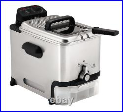 T-Fal FR8000 Deep Fryer with Basket, Oil Fryer with Oil Filtration, Easy. New