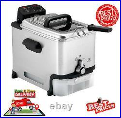 T Fal Kitchen Deep Fryer Basket Stainless Steel Oil Filtration 2.6 Pound FR8000