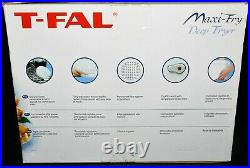 T-Fal Tefal FF1001 Maxi Fry Deep Fryer with timer white New in Open Box Complete