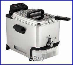 T-fal Deep Fryer Oil Filtration Ultimate 3.5-Liter Fry Basket Stainless Steel