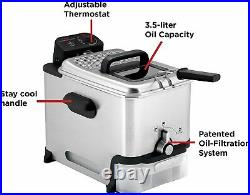 T-fal Deep Fryer with Basket, Stainless Steel, Easy to Clean Deep Fryer