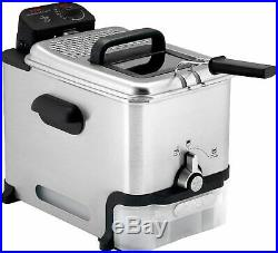 T-fal Deep Fryer with Basket, Stainless Steel, Easy to Clean Deep Fryer, FR8000