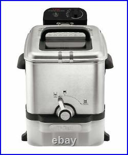 T-fal Deep Fryer with Basket, Stainless Steel, Easy to Clean Deep Fryer, Oil