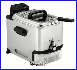 T-fal Deep Fryer with Basket, Stainless Steel, Easy to Clean Deep Fryer, Oil F