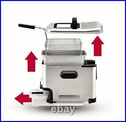 T-fal Deep Fryer with Basket Stainless Steel Easy to Clean Deep Fryer Oil Fil