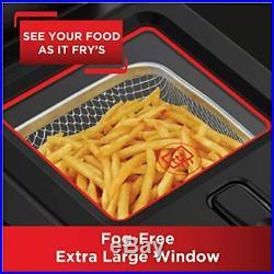 T-fal FR600D51 Odorless Stainless Steel Lean Deep Fryer Filtration System, &