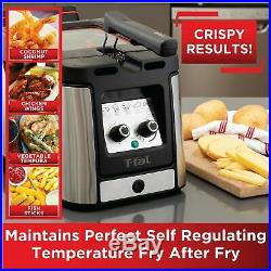 T-fal FR600D51 Odorless Stainless Steel lean Deep Fryer with Filtration Syste