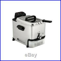 T-fal FR8000 Stainless Steel 3.5-Liter Immersion Deep Fryer Silver