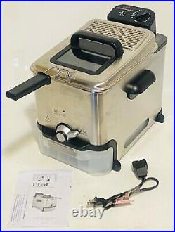 T-fal FR800050 Deep Fryer withBasket, Oil Filtration, 2.6-Pound Stainless Steel