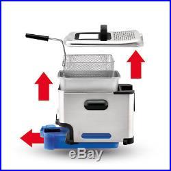 Tefal 3.3L 2300W Electric Oleoclean Pro Inox Design Deep Fryer Cooker/Food Fry