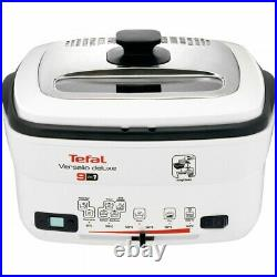 Tefal FR4950 Versalio Deluxe 9-in-1 White Deep Fryer Multi-Cooker 1600W New