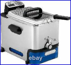 Tefal FR804040 Oleoclean Pro Deep Fryer Stainless Steel/Blue