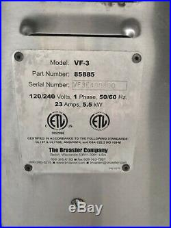 The Broaster Company Model VF-3 Ventless Hoodless Ansul Deep Fryer Electric