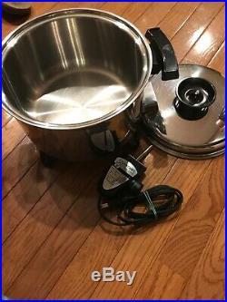 Townecraft Chefs Ware 5 Qt Liquid-Core Electric Stockpot/Slow Cooker/Deep Fryer