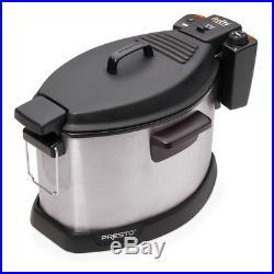 Turkey Fryer Electric Rotisserie 5.25 Qt 1800 W Fish Meat Fries Spatter Shield