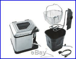 Turkey Fryer Electric XL Stainless Steel Deep Fryer Indoor Steamer Boiler NO TAX
