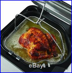 Turkey Fryer XL Stainless Steel Electric Deep Fryer Indoor Steamer Boiler NEW