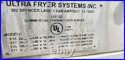 UltraFryer E17-14 Two Vat Commercial Electric Deep Fryer with Filter System