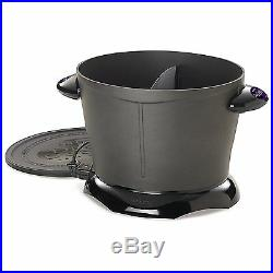 Unique Dual Daddy New Deep Fryer Temperature Maintained Non-Stick Fry Pot 8 Cups