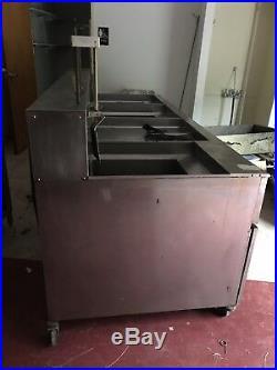 Used Giles 3 Bay Electric Deep Fryer with Dump Station EOF-24 EOF-BIB Restaurant
