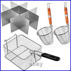 VEVOR 20L Electric Deep Fryer Single Tank Stainless Steel Basket Commercial 5KW