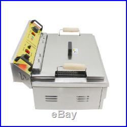 VFN Commercial Stainless Steel Electric Deep Fryer Single Tank Countertop 110V