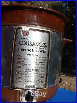 VTG COUSANCES Le Creuset France DEEP FRYER Crock Pot ELECTRIC 1970's