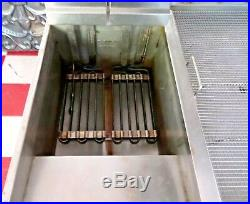 VULCAN 2 Bay 100 LB High Capacity Commercial Floor Deep Fryer With Dump Station