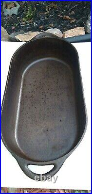 Vintage Cast Iron Deep Fish Fryer #3060 Oval Pan Bottom Only Made in the USA