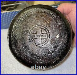 Vintage Griswold #3 Cast Iron Patty Mold Set with Deep Patty Bowl #72 Original Box