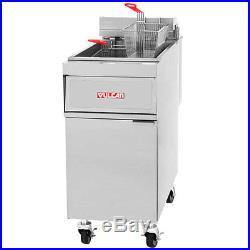 Vulcan 1ER50AF 50lb. Electric Solid State Deep Fryer with KleenScreen Filter