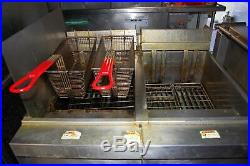 Vulcan Commercial Standing Floor Electric Double Deep Fryer 480V 3 Phase 17kW