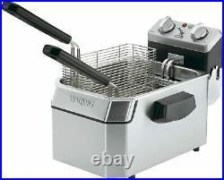 Waring Commercial WDF1000 120-Volt Heavy Duty 10 lbs. Single Electric Deep Fryer