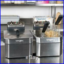 Waring Double 15 lb. Commercial Electric Countertop Deep Fryer Set 208V, 3300W
