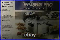 Waring Pro DF280 Professional 3 Basket Deep Fryer 1800W Open Box Still Brand New