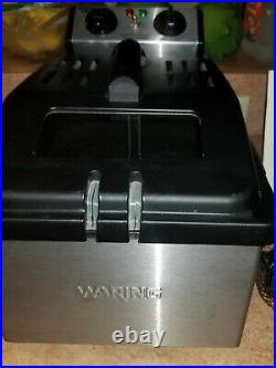 Waring Pro Professional Deep Fryer 1800 Watt WPF500PC with Manual