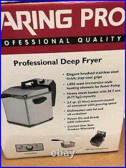 Waring Pro Professional Deep Fryer WPF150PC 1800W 3.1 qt Capacity SS Finish EUC