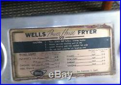 Wells Deep Fryer / Vintage Electric / See Pics