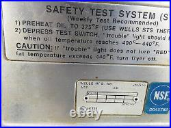 Wells Fryer Table Top Deep Fryer Electric 208 Volt Wells F-55