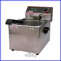 Winco EFS-16 Electric Countertop Single Well Deep Fryer
