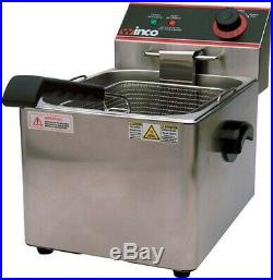 Winco EFS-16 Electric Countertop Single Well Deep Fryer 16 Lb