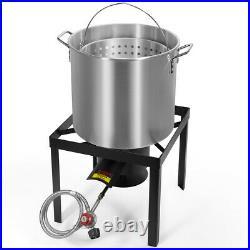 X-Large 64 Qt Aluminum Turkey Deep Fryer Kit Stock Pot Propane LP Outdoor Burner