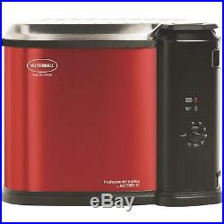 XL Electric Deep Fryer by Master built Chrome Basket Patented Drain Clips Red
