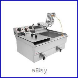 ZOKOP 25QT 23.6L Electric Deep Fryer Commercial Fry French Restaurant