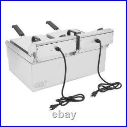 ZOKOP 3400W 24.9QT 23.6L Electric Countertop Deep Fryer Commercial Basket Fry